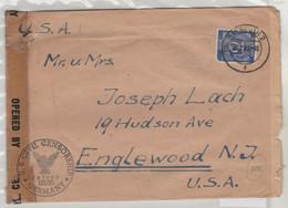 TIMBRE D ALLEMAGNE 1946 Nr 934 C CENSUREE SUR LETTRE DE DEUTSCHAND  POUR LES USA - Allemagne