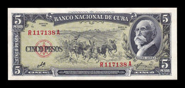 Cuba 5 Pesos Máximo Gómez 1960 Pick 91c Sign Che SC- AUNC - Cuba