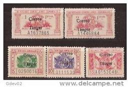 TA142-L4122TAFRTAN.Maroc.Marocco.TANGER.SERVICIOS  DERECHOS CONSULARES.1938 (Ed 142/6**) Sin Charnela.MUY BONITO..RARO - Maroc (1956-...)