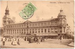Oostende Wapenplein Stadhuis - Ostende Hotel De Ville. 1911 - Oostende