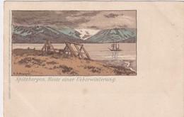 Spitzbergen - Reste Einer Uebewinterung - Litho        (A-263-200609) - Norway