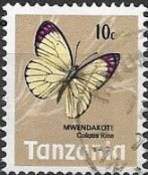 TANZANIA 1973 Butterflies - 10c - Colotis Ione FU - Tanzania (1964-...)