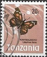 TANZANIA 1973 Butterflies - 20c - Libythea Labdrya FU - Tanzania (1964-...)