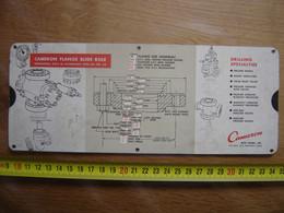 Réglette Regle CAMERON Pompes Valves Robinets Artisan METIER MESURE - Planches & Plans Techniques