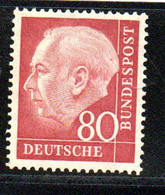 Allemagne /  N 71 D / 80 Pf  Rouge / NEUF* Avec Charnière - Ungebraucht