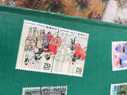 GIAPPONE ARTE BLOCCO 2 VALORI - Postzegels