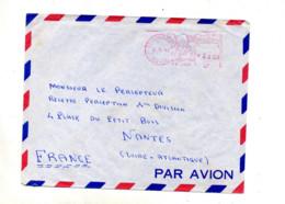 Lettre Machine Tesouraria + Agence Maritime  Rio - Storia Postale