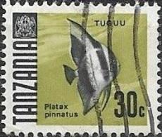 TANZANIA 1967 Fish - 30c. Dusky Batfish FU - Tanzania (1964-...)