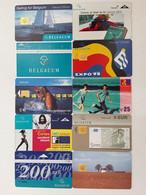 = BELGIUM - 10 DIFFERENT PHONECARDS  = LOT NR. 71X1 - Phonecards