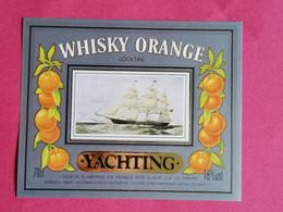 ETIQUETTE WHISKY ORANGE COCKTAIL THEME BATEAUX                      26/09/20 - Whisky