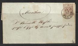 Lombardo-Vénétie 1850 N°4a Sur Lettre Au Départ De Milan Pour Mantova. - Lombardo-Vénétie