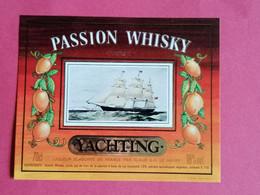 ETIQUETTE WHISKY PASSION COCKTAIL THEME BATEAUX                      26/09/20 - Whisky