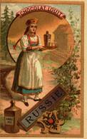 Chromo   //   Chocolat  Louit  //  Serie De 4 // Russie Espagne Hollande France - Louit