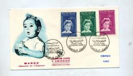 Lettre Fdc 1959 Semaine Enfance - Maroc (1956-...)