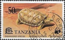 TANZANIA 1977 Endangered Species - 50c - Pancake Tortoise FU - Tanzania (1964-...)