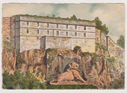Cpsm Illustrée 90 Belfort Signée Barday - Le Château Et Le Lion - 1948 - Pk - Belfort – Le Lion