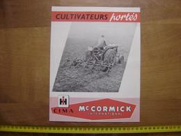 Publicite Depliant Cultivateurs Portes TRACTEURS Mc CORMICK Bouilloux Macon - Planches & Plans Techniques