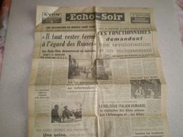 Journal L'Echo Du Soir : Poulbot Est Mort; Fausto Coppi; Restitution Des Bins Enlevés ... - Sin Clasificación