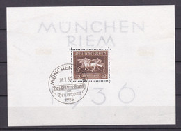 Deutsches Reich - 1936 - Michel Nr. Block 4 - Sonderstempel - Deutschland