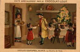 Chromo  Doré //   Chocolat Louit  //  Série De 7  //Les Vieilles Coutumes - Louit