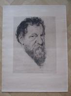 Emile Hougardy - D'après Un Autoportrait De Lambert Lombard - Lithografieën