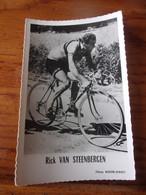 PHOTO CARTONNEE MIROIR SPRINT RICK VAN STEENBERGEN - Cycling