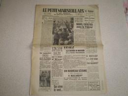 Journal Le Petit Marseillais 1940; Pétain à Clermont Ferrand; Juifs à Lisbonne; Actualités Drôme Ardèche ... - Sin Clasificación