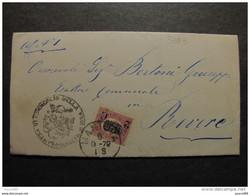 """3783 ITALIA Regno-1878- """"Ondine"""" C. 2 Su 0.20 MANTOVA>REVERE (descrizione) - 1861-78 Vittorio Emanuele II"""