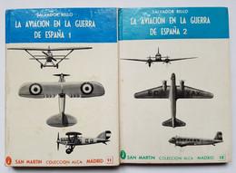 LIVRES - LOT DE 4 - LA AVIACION EN LA GUERRA DE ESPANA - S. RELLO - ED. SAN MARTIN - FRANQUISME - REPUBLICAIN - Libros
