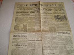 Journal Le Petit Dauphinois 1942; Laval à Vichy; Bataille De Stalingrad; Vendanges Ampuis Côtes Roties; Actu Régionales - Sin Clasificación