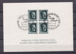 Deutsches Reich - 1937 - Michel Nr. Block 8 - Sonderersttagstempel - Deutschland
