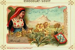 Chromos //   Chocolat Louit  //  Série De 16  / Fleurs De France - Louit