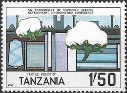 TANZANIA 1985 5th Anniversary Of Southern African Development Co-ordination Conference - 1s50 Production Cotton MNH - Tanzania (1964-...)