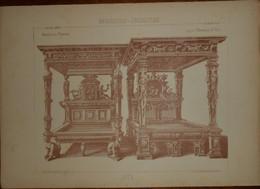 Lits. Menuiserie - Ebénisterie. 1887. - Planches & Plans Techniques