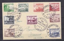 Deutsches Reich - 1937 - Michel Nr. 651/659 - Satzbrief Mit Propagandasonderstempel - München/Merano - Oblitérés