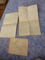 CORRESPONDANCE MILITAIRE 2 LETTRES MANUSCRITES SERGENT BLESSE NOEL 1914 FEVRIER 1915 54 REGIMENT D'ARTILLERIE LYON - 1914-18