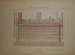Jardinière. Menuiserie - Ebénisterie. M.Oswald, Menuisier à Fribourg. 1887. - Planches & Plans Techniques