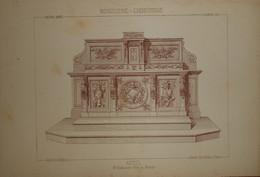 Autel. Menuiserie - Ebénisterie. M. Bellanger, ébéniste à Rennes. 1887. - Planches & Plans Techniques