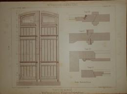 Porte De Remise.  M. Alf. Frère, Architecte à Charleroi Et M. L. Desplat, Menuisier à Sombreffe. 1887. - Planches & Plans Techniques