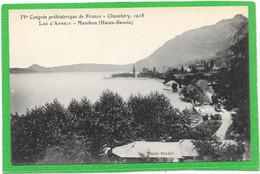 73 CHAMBERY - Congrès Préhistorique De France 1908 - Lac D'ANNECY - MENTHON - Chambery