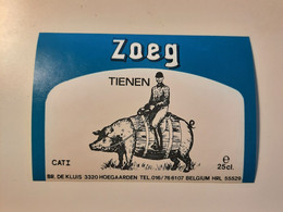 Biere Etiquette Bieretiketten Bier Etiket Beer Label Belgium Hoegaarden - Birra