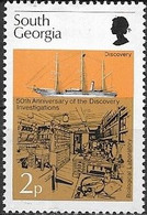 SOUTH GEORGIA 1976 50th Anniversary Of 'Discovery' Investigations - 2p - Discovery And Biological Laboratory MH - Géorgie Du Sud