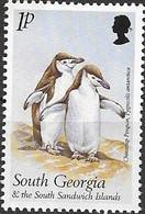 SOUTH GEORGIA 1999 Birds - 1p - Bearded Penguins (Chinstrap Penguins) MNH - Géorgie Du Sud