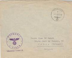 Pli Feldpost Vers Jette (Belgieque)L 31554 / Verso étiquette HEERES NACHRICHTENDIENST - TB - Allemagne