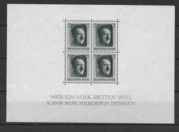 REICH - 1937 -  YVERT BLOC N° 8 ** MNH - TRES LEGERE ALTERATION De GOMME - COTE = 75 EUR. - Bloques