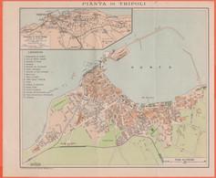 Mappa Di Tripoli - Pianta Di Tripoli E Dintorni - 19 X 22 Cm - World