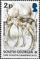 SOUTH GEORGIA 2004 Juvenile Fauna - 2p - Reindeer MNH - Géorgie Du Sud