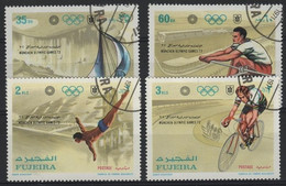 JO72/E41 - FUJEIRA 4 Val. Obl. Jeux Olympiques 1972 - Fujeira