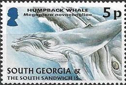 SOUTH GEORGIA 2004 Juvenile Fauna - 5p - Humpback Whale MNH - Géorgie Du Sud