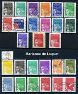 Lot De 25 Timbres Oblitérés Marianne De Luquet - 1997-04 Marianne Of July 14th